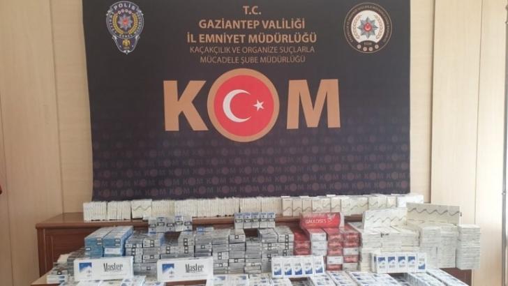 Gaziantep'te 2 bin 500 Paket Kaçak Sigara Yakalandı