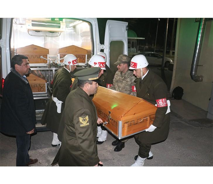 Afrin şehitleri Gaziantep'e getirildi